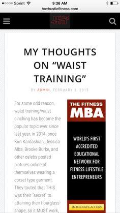 My Thoughts On Waist Training - Waist Cinching -  ➡️http://www.hovhustlefitness.com/health/my-thoughts-on-waist-training/⬅️
