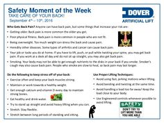 Alberta Oil Tool's Moment of the Week Safety Moment Topics, Workplace Safety Topics, Health And Safety Poster, Safety Posters, Physical Pain, Physical Fitness, Safety Slogans, Safety Meeting, Sep 2016