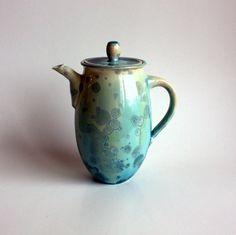 Silky Aqua Teapot by BrennaDeeCeramics on Etsy, $90.00