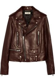 Nov 4th - Pinned 5 weeks and SOLD OUT as of today. This is a beautiful leather jacket and I love the take on the burgundy for Fall. Only 2 left!   Saint LaurentLeather biker jacket