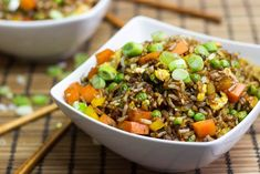 Vegetarian Fried Rice - one of the most delicious ways to use up leftovers! | hurrythefoodup.com