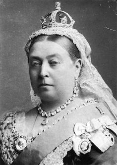 Victoria wearing her small diamond crown  Photograph by Alexander Bassano, 1882.