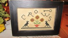 Crows/Sunflower Sampler - pinned by pin4etsy.com