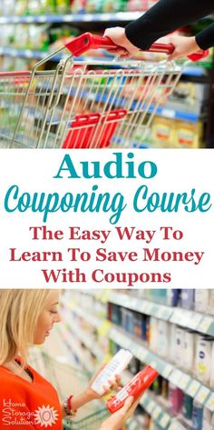 One of the best ways to save money on groceries is to use coupons, but many people go about it all wrong. The audio course from Grocery University is a great quick way to learn how to get results and lower your grocery bill each week with or without coupo