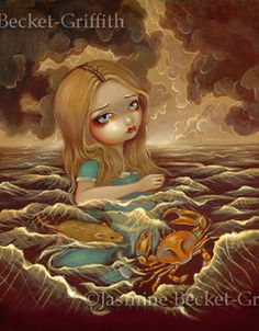 Alice in the Pool of Tears by Jasmine Becket-Griffith