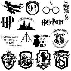 Harry Potter Stencils, Stickers Harry Potter, Harry Potter Symbols, Images Harry Potter, Theme Harry Potter, Harry Potter Tumblr, Harry Potter Aesthetic, Harry Potter Birthday, Harry Potter Quotes