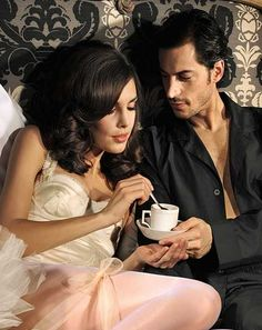 Morning coffee mmmm shared in bed even better