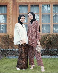 Kebaya Lace, Kebaya Hijab, Batik Kebaya, Kebaya Dress, Dress Pesta, Batik Fashion, Hijab Fashion, Fashion Dresses, Blouse Batik