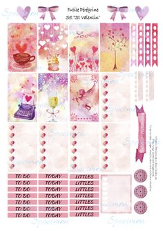 FREE Printables Valentines Day Stickers for the Happy Planner