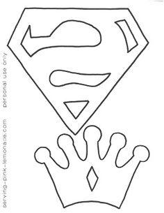 Serving Pink Lemonade: Superman logo template