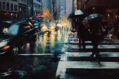 Captivating City Streets Paintings – Fubiz Media