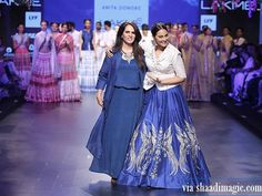 Sonakshi Sinha with the lady herself! Amazing show put up by Anita Dongre as usual!