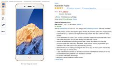 Nubia N1 Gold in Stock on Amazon India, Price Rs 11,999 | FlipHotDeals