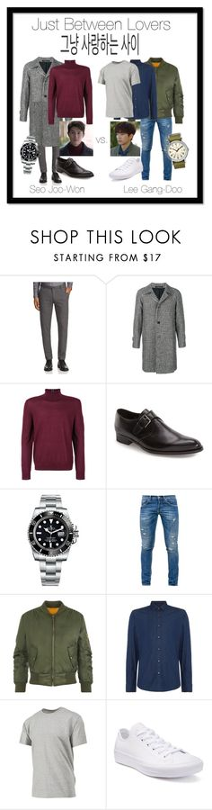 """""""Just Between Lovers"""" by lora-86 on Polyvore featuring BOSS Hugo Boss, Tagliatore, Paul Smith, To Boot New York, Rolex, Dondup, WearAll, Michael Kors, Champion and Converse"""