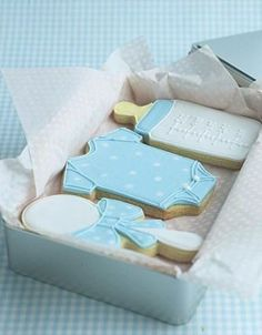 Lovely Idea for Baby Boy Shower Cookies www.MadamPaloozaEmporium.com www.facebook.com/MadamPalooza