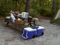 Packing the Coolers for Camping. Camping food tips
