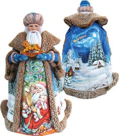 "G. DeBrekht Santa's Wish List 94003 RETIRED 17.5"" Christmas Figure"