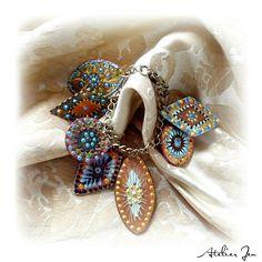 """Cecili"" oversize charms bracelet by Atelier Jenwww.atelierjen.com"