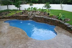 fiberglass pool picture gallery | Vinyl Fiberglass Pools, Arkansas, Oklahoma, Custom Pool Design, Rock ...