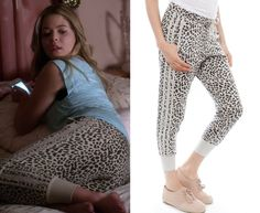 """Ali's leopard print sweatpants from Pretty Little Liars episode """"Thrown from the Ride"""". Chaser Animal Print Reverse Pane Slouchy Pant ..."""