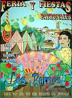 CARTEL FERIA Y FIESTAS PATRONALES DE LOS BARRIOS 2003