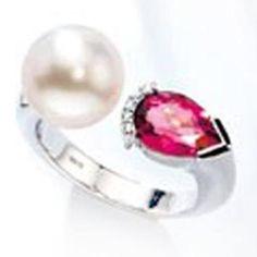 Damen-Ring 5 Diamant-Brillanten 14 Karat (585) Weißgold Südsee-Zuchtperle 0.03 ct. 1 Turmaline 1 Perle 56 (17.8) Dreambase http://www.amazon.de/dp/B00AWAKNJ6/?m=A37R2BYHN7XPNV
