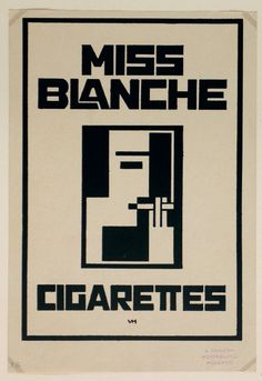 Vilmos Huszár: Miss Blanche Cigarettes, 1926