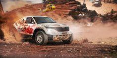 Skoda Kodiaq a.a Dakar Special by erpydesign on DeviantArt Rally, Monster Trucks, Vehicles, Deviantart, Cars, Life, Design, Rolling Stock, Autos