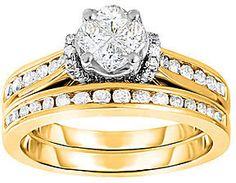 jcpenney FINE JEWELRY Harmony Eternally in Love 1 CT. T.W. Diamond 14K Yellow Gold Bridal Set on shopstyle.com