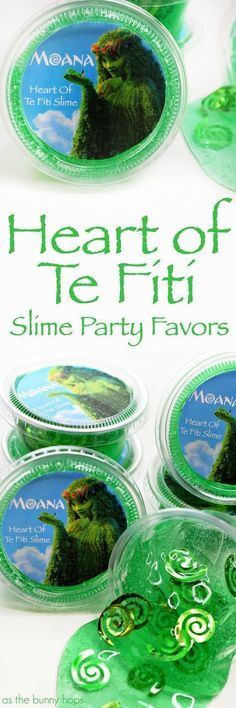 Heart of Te Fiti Slime Party Favors are perfect for a Moana-inspired birthday party!These Heart of Te Fiti Slime Party Favors are perfect for a Moana-inspired birthday party! Moana Themed Party, Moana Birthday Party, Moana Party, Luau Party, Diy Party, Birthday Parties, Party Favors, Party Bags, Party Gifts