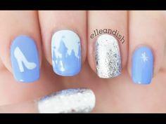 Cinderella Nails Tutorial - YouTube