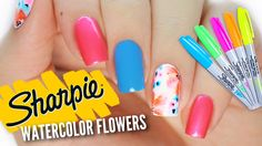 Nail Hack: DIY Watercolor Sharpie Nail Art Design! In today's nail art design tutorial, we have a bright and fun floral design that looks like it's made from...