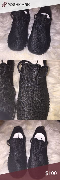 Adidas Yeezy Boost Sneakers Black, women's Adidas YEEZY sports sneakers, good for fitness and style Adidas Shoes Athletic Shoes
