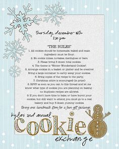 a cookie exchange party