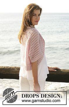 Ravelry: Sea Blush pattern by DROPS design Drops Design, Crochet Shrug Pattern Free, Knitting Patterns Free, Free Pattern, Crochet Clothes, Crochet Hats, Drops Kid Silk, Garnstudio Drops, Crochet Shawl