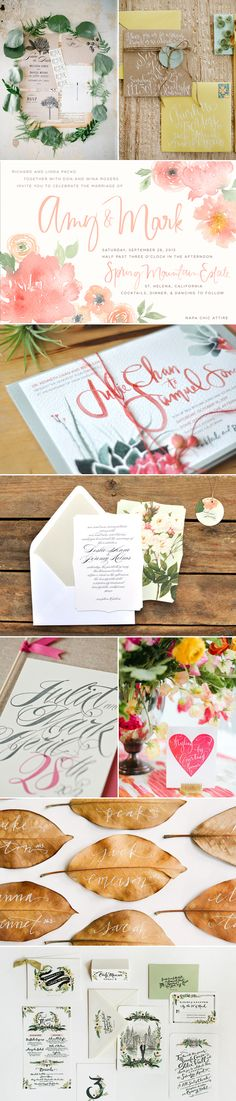 41 Beautiful Wedding Calligraphy Ideas