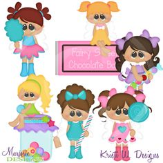 Sugar Fairies SVG Cutting Files Includes Clipart