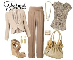 brown outfit for most any age under 50-55, depending on your style.