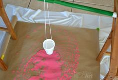 Pendulum Painting Made Easy - Handmade Kids Art Physics Projects, Stem Projects, Projects To Try, Painting For Kids, Diy Painting, Art For Kids, Middle School Art, School Fun, Stem Activities