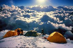 Above the clouds (6500m) in Himalayas, Nepal