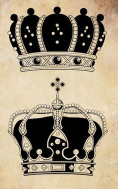 2 ornate crowns royal queen digital image by VellasCollageSheets, $1.00