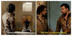 The Musketeers - 2x06 - Through a Glass Darkly; All we were missing was some snark from D'Artagnan for the whole trifecta lol