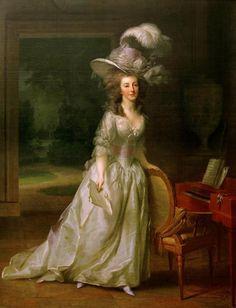 Johann Heinrich Tischbein I, Frédérique Louise Wilhelmine, Princess of Orange-Nassau. 1788, oil on canvas. Musée des beaux-arts.  Marie Antoinette's Gossip Guide to the 18th Century