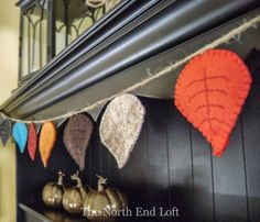 Fall Leaves Felt Bunting