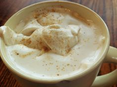 Ginger Whipped Chai Tea Latte (THM S- makes 4 servings of whipped cream). Brew a pot of very strong chai tea sweetened with stevia drops. Meanwhile, put 1 cup of heavy whipping cream, 1 tsp of vanilla, sweetener to taste, and a 1/4 tsp of ground ginger and a teaspoon of the strong chai tea itself. Whip together on high for a few minutes or until texture of whipped cream. Place ontop of a cup of the chai tea, garnish with additional ginger. To make a mean one, put a dash of cayenne