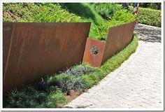 Cor-ten retaining walls! Succulents and More: Cor-Ten Zen