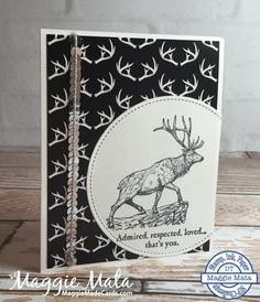 Winter Wonderland DSP, Wilderness Awaits stamp set, Stampin' Up!, Maggie Mata