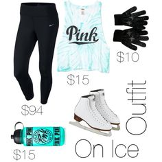 on ice outfit by skatebelle on Polyvore featuring polyvore fashion style NIKE Victoria's Secret PINK