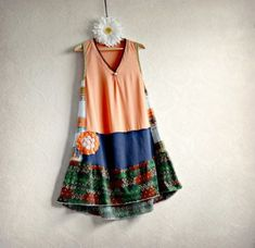 Upcycled Clothing Peach A-Line