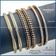 Code: For More Details Call Us on Store Address: Mangatrai @ Hitech City , Beside Avasa Hotel , Hyderabad. Jewelry Design Earrings, Gold Earrings Designs, Bracelet Designs, Necklace Designs, Gold Bangles Design, Gold Jewellery Design, Bridal Bangles, Fashion Jewelry, Wedding Anniversary